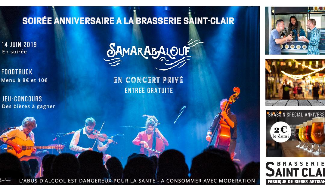 le 14 juin, c'est l'anniversaire de la Brasserie Saint-Clair