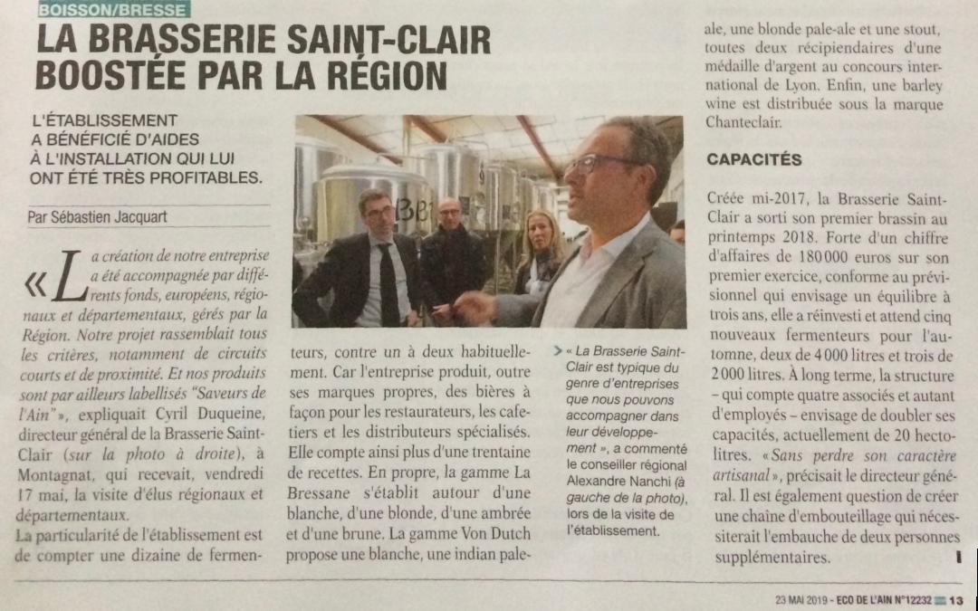 Vie de la brasserie Saint-Clair : revue de presse